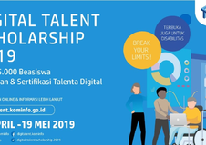 Pendaftaran Program Digital Talent scholarship (DTS) 2019